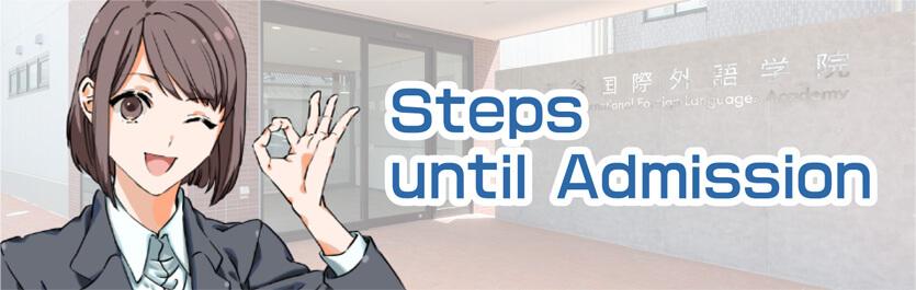 Steps until Admission